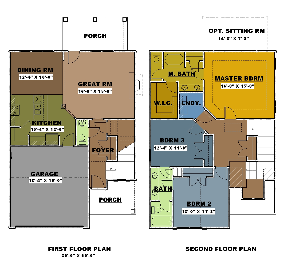 Raedden rt bailey construction for 2 story 2 bedroom apartment plans